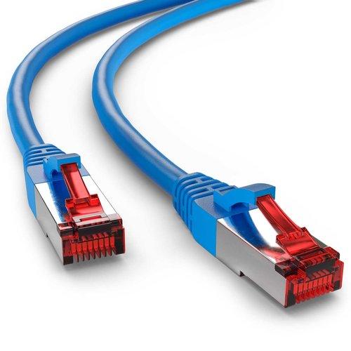 Cat6 S/FTP PIMF LSOH blauw 0.25 meter
