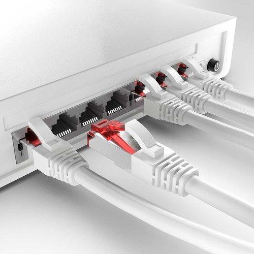Cat6 S/FTP LSZH 0.5M White