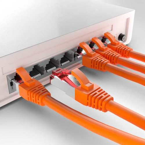 Cat6 S/FTP LSZH 10M Orange