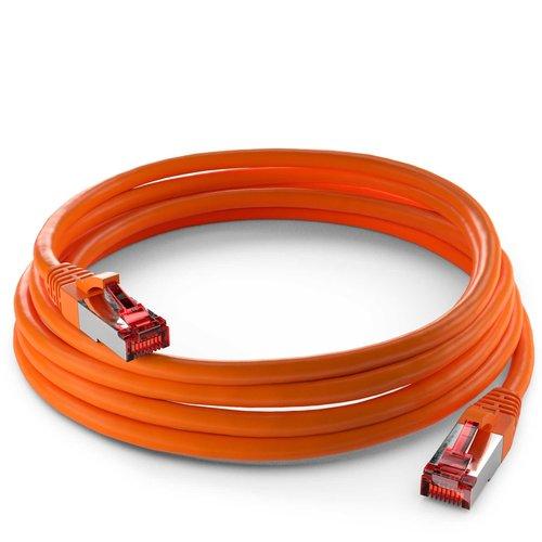 Cat6 S/FTP LSZH 0.5M Orange