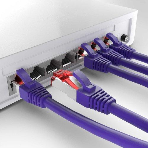 Cat6 S/FTP LSZH 10M Violet