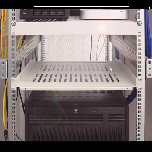 Bintra 1U shelf for server cabinets of 450mm deep grey