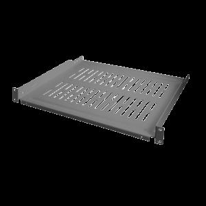 1U shelf for server cabinets of 450mm deep grey