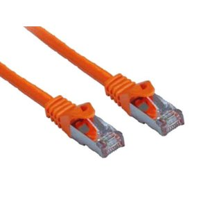 Cat7 0.25M Oranje SSTP/PiMF halogeenvrij patchkabel
