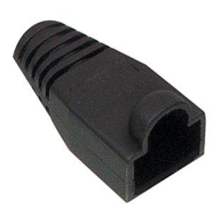 RJ45 Tule Zwart 100 stuks  6mm