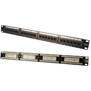 Patchpanel 24 Poorts CAT5E RJ45
