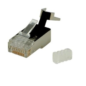CAT6 Connector met hulpstuk RJ45 - STP 10 stuks voor stugge kabel