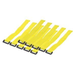 kabelbinders 300mm met klittenband geel 10 stuks
