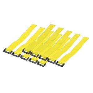 Tyraps with Hook And Loop Fasteners 10pcs 300mm Yellow