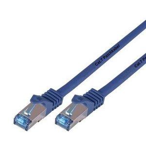 Cat7 0.5M Blauw SSTP/PiMF halogeenvrij patchkabel