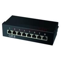 CAT6 8 poorts patchpanel STP zwart