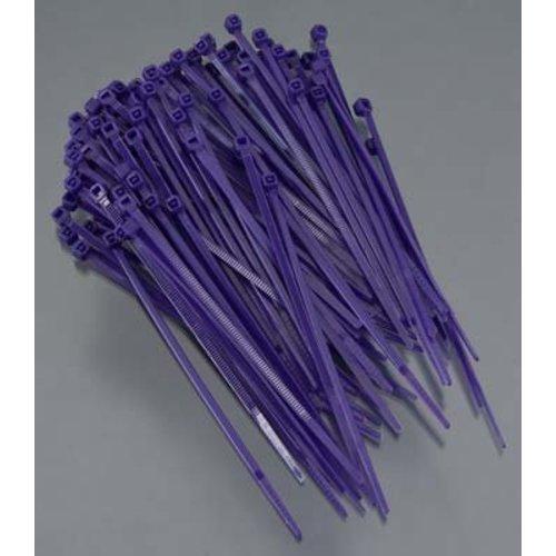Kabelbinders 140mm paars 100 stuks