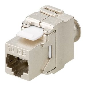 Toolless Cat6a Keystone Jack 500MHz RJ45 STP SNAP-IN Shielded