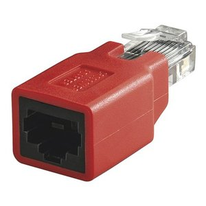 Cat5e Crossover Coupling Shielded RJ45 Connector To Jack