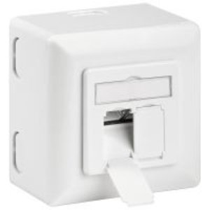 Cat6a Surface Modular Outlet 2x RJ45 Fully Shielded LSA