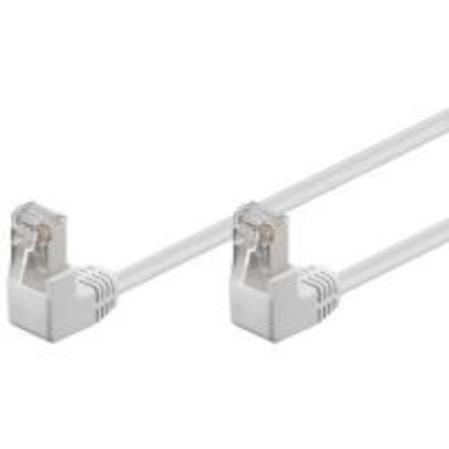 Cat5e U/UTP Cable 2 x hooked 1M White