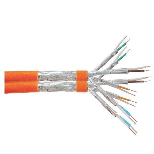 S/FTP CAT7a 1000MHz duplex stug 100M 100% koper halogeenvrij oranje (netwerkkabel op rol)