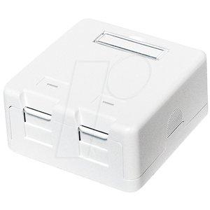 Keystone Surface Mounted Box 2 port UTP White