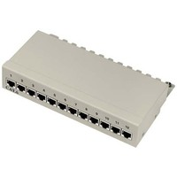 Cat6a 12 Port Patch Panel RAL 7035