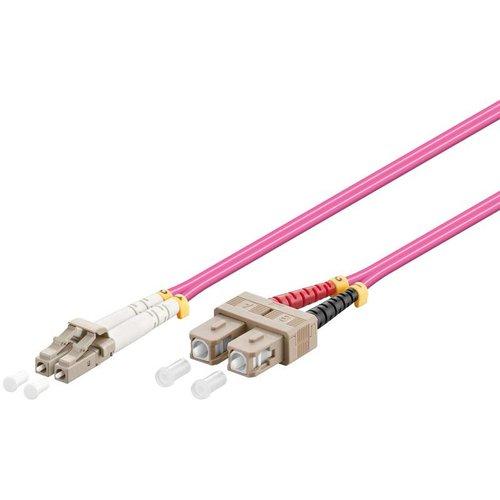 Glasvezelkabel duplex OM4 50/125 LC-SC 0.5 M