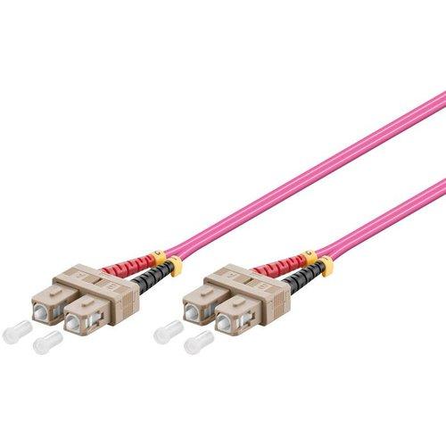 Glasvezelkabel duplex OM4 50/125 SC-SC 2 M