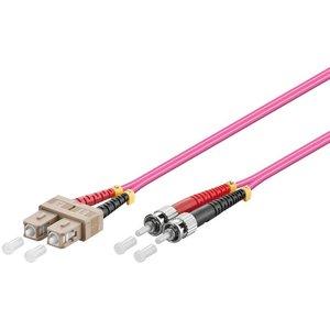 Glasvezelkabel duplex OM4 50/125 SC-ST 0.5 M