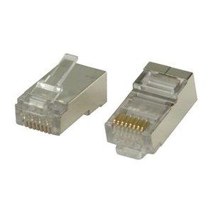 CAT6 Connector RJ45 - STP 10 stuks voor soepele en stugge kabel