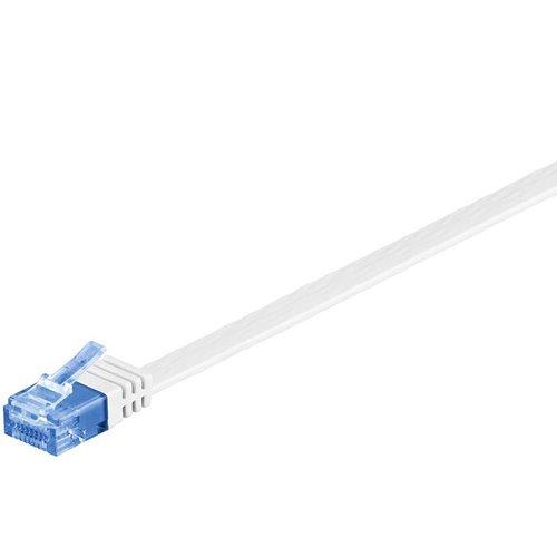 Cat6a 2 M platte UTP kabel wit