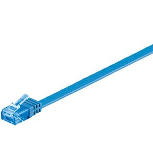 Cat6a 2 M flat UTP cable blue