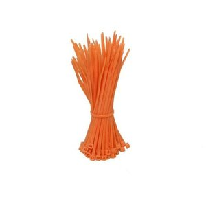 Kabelbinders 200mm oranje 100 stuks