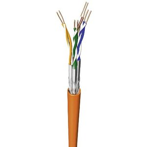 S/FTP CAT7a 1000MHz solid 500M 100% copper halogen free orange