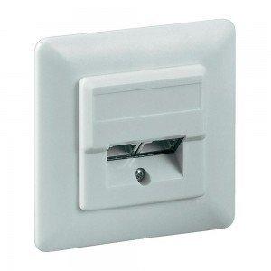 Cat5e Wall Plate Flush Mounting White