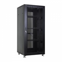37U server rack with perforated doors 800x800x1833mm (WxDxH)