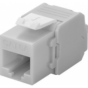 CAT6a Keystone RJ45 unshielded grey