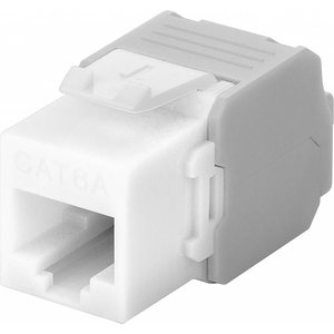 CAT6a Keystone RJ45 unshielded white