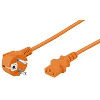 Stroomkabel CEE 7/7 haaks (male) naar C13 (female) 3 M oranje
