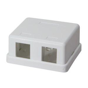 Keystone Surface Mount Box 2 port UTP White