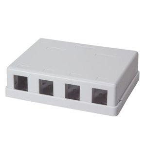 Keystone Surface Mount Box 4 port UTP White