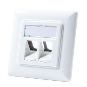 Keystone Faceplate for 2 Keystone Jacks RAL9003 White