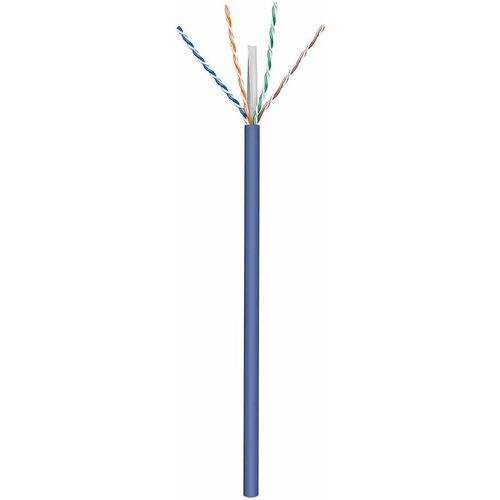 U/UTP CAT6a stug 305M 100% koper blauw (netwerkkabel op rol)