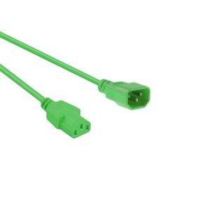 Netsnoer C14 - C13 3x 0.75mmGroen 1.2m