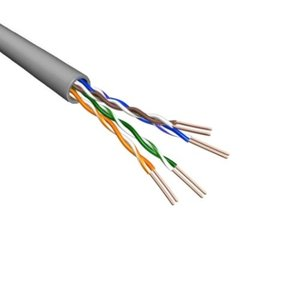Cat5e U/UTP Kabel Soepel AWG24 PVC Grijs 500m 100% koper