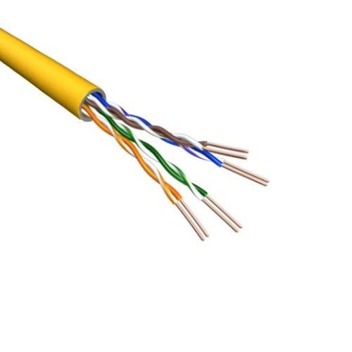 Cat5e U/UTP Kabel Soepel AWG24 PVC Geel 500m 100% koper