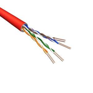 Cat5e U/UTP AWG24 PVC Stranded 500M Red 100% Copper