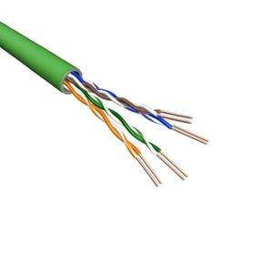 Cat5e U/UTP Kabel Soepel AWG24 PVC Groen 500m 100% koper