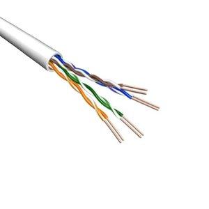 Cat5e U/UTP Kabel Soepel AWG24 PVC Wit 500m 100% koper