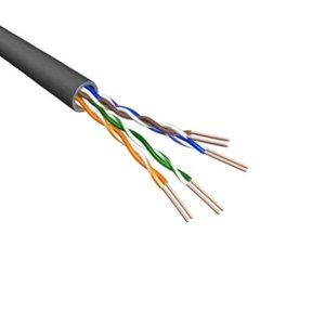 CAT5e U/UTP Cablel Stranded AWG24 PVC Black 500M 100% koper