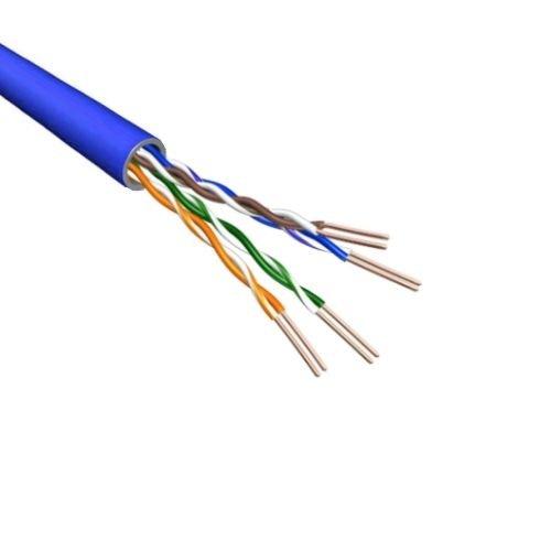 U/UTP CAT6 cable stranded 500m 100% copper blue