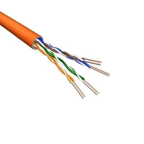 Cat.6 U/UTP Kabel Soepel AWG24 LSZH Oranje 500m 100% koper