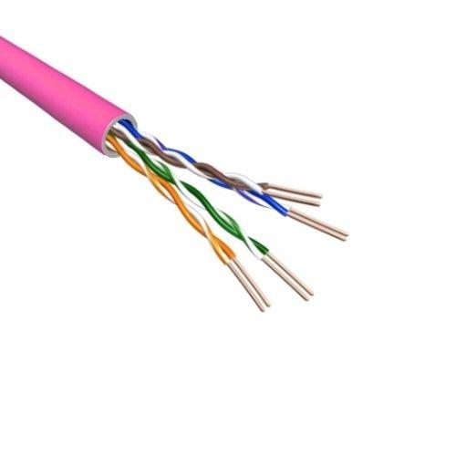 Cat.6 U/UTP Kabel Soepel AWG24 LSZH Roze 500m 100% koper
